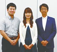 左から佐藤さん、木村さん、中尾さん。