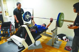 男子49kg級 松本崇選手によるデモンストレーション